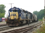 The journey of Q335-15 is about over as CSX 8467 & HLCX 6331 lead it into Plaster Creek