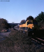 NYS&W 3638 EB at Newfoundland in the last rays of Sun