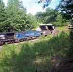 NS 6769 trails on a WB coal train