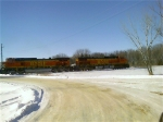 Twin Dash-9W's Lead A Grain Train From Mitchell to Sioux Falls
