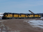 Five Geeps Sit at the H.G. Everist Quarry