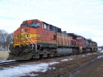 BNSF 5349 & 2 Warbonnets Will Spend the Night Before Taking Hoppers Away from the CHS Co-op