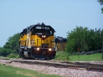 DAIR 4027 Leads its Weekly Thursday Ballast Train Into Town From Dell Rapids, SD