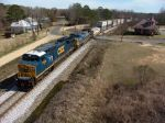 CSX 7306 passing the old depot