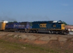 CSX 8486 pulling the Olympic Torch