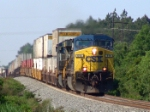 CSX 614 leads a nice string of double stacks