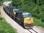 CSX 5265 coming through kudzu alley