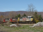 BB 12, 13 & 7 lead an EB mixed freight, returning to Staunton, VA