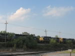HLCX 8147 & CSX 7907 take up the middle of this quartet