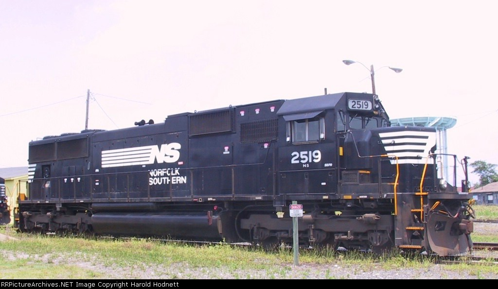 NS 2519 sits outside the yard office