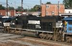 NS 2520 speeds thru town on train 214
