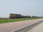 UP 9058 Leads a Long MoW Train WB