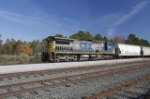 CSX 7340 runs long hood forward