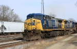 CSX 283 leads manifest train into yard