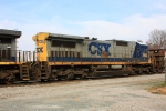 CSX 7563 (C40-8) was second up in Q675's consist