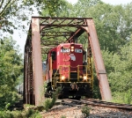 GNRR 8704 seen crossing the Coosawattee River  in Ellijay, GA