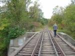 J on the Duck Creek bridge
