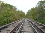 Low angle of track on the Duck Creek bridge