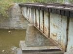 Side view of Duck Creek RR bridge