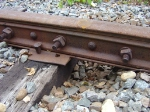 Depression in the ballast under a joint