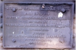 Builders plate on NYS&W drawbridge