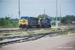 CSX 98 and 335 wait for coal mtys in the yard at McDuffie