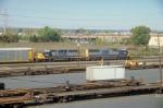 Northbound auto rack train
