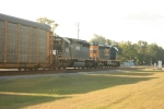 Northbound CSX 8050 & HLCX 8142 (both SD40-2'S) come through with a load of autoracks