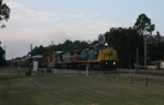 Southbound CSX 7389 (Dash 8-40CW) makes its way through this crossing