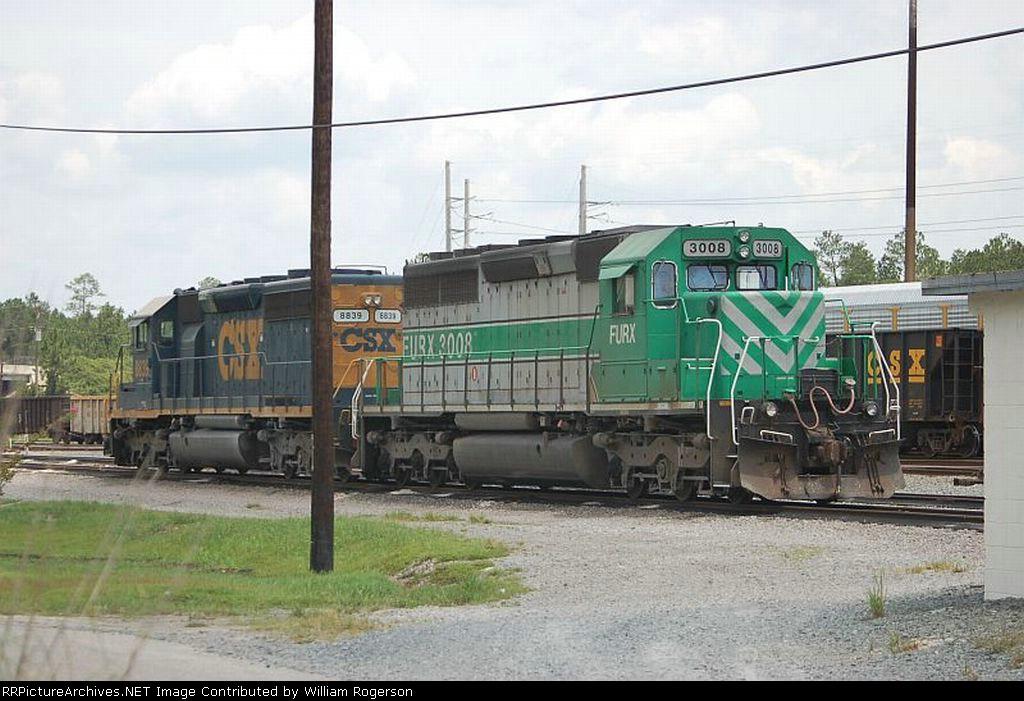 CSX Transportation EMD SD40-2 No. 8839 and First Union Rail (FURX) EMD SD40-2 No. 3008