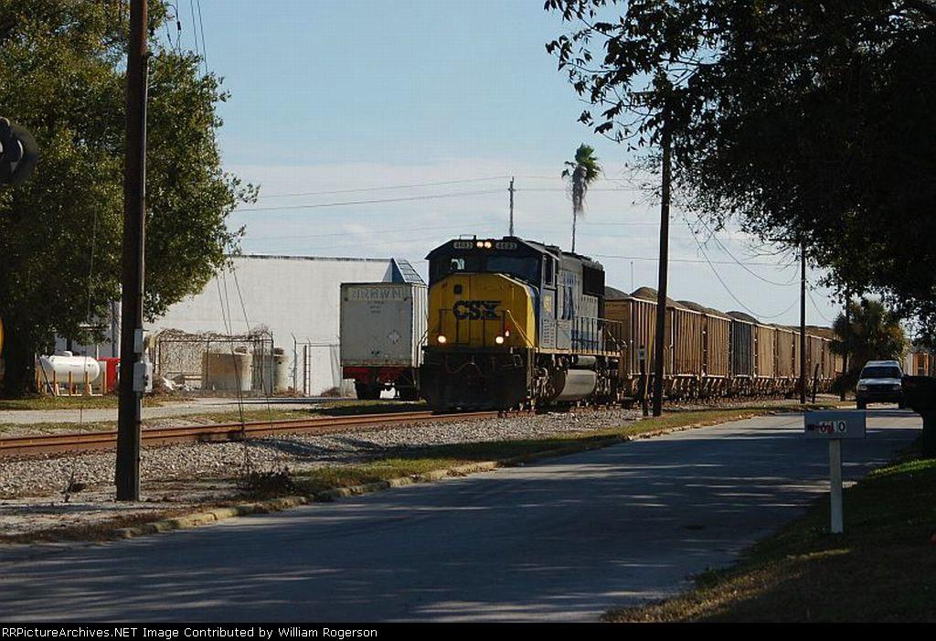 CSX Transportation Phosphate Train with EMD SD70M No. 4683 providing power