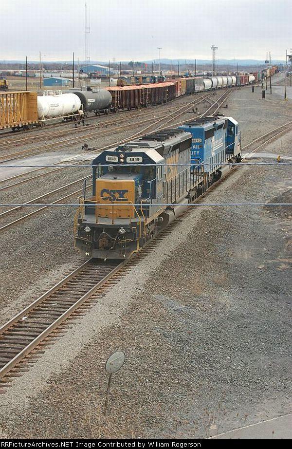 CSX Transportation EMD SD40-2's No. 8849 and No. 8840