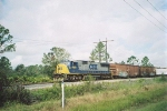 "CSX Transporation Local Freight Train with EMD SD70M No. 4688, ""Sprit of Tampa"" in the lead"