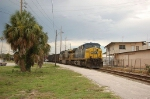 Southbound CSX Transportation (CSX) Mixed Freight Train, with GE AC44CW No. 428 in the lead