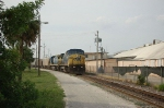 CSX Transportation Mixed Freight Train with GE C40-8W No. 7684 in the lead