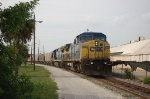 CSX Transportation Mixed Freight Train with GE C44-8w No. 7684 in the lead
