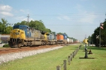 Northbound CSX Transportation TOFC/Container Train with GE AC60CW No. 688 and AC44CW No. 397 providing power