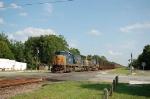 Northbound CSX Transportation Unit Coal Train with EMD SD70MAC No. 4737 and GE AC44CW No. 71 providing power
