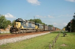 Northbound CSX Transportation Mixed Freight Train with EMD GP40-2's No. 8439 and No. 6296 providing power