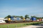 Southbound CSX Transportation Container Train with GE C40-8's No. 7604 and No. 7514 providing power