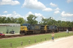 Southbound CSX Transportation Unit Coal Train with two GE Diesel Locomotives providing power
