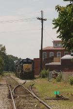 CSX Diesel Locomotives on a siding