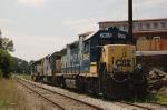 CSX Transportation Diesel Locomotives on a siding
