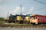 CSX Transportation EMD Road Slug No. 2204, SD50 No. 8547, GP38-2 No. 2627 and B&O Railroad Museum Caboose No. 956365