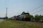 Northbound CSX Transportation Autorack Train with a pair of GE AC44CW Diesel Locomotives providing power