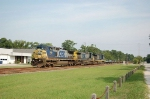 Southbound CSX Transportation Empty Container Train with three GE Diesel Locomotives providing power