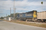 CSX Transportation Phosphate Train with EMD SD70M No. 4683 providing power