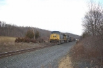 """Southbound CSX Transportation Mixed Freight Train, with GE AC44CW No. 159 in the lead, on the """"River Line"""""""