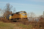 Southbound CSX TRansportation Container Train with Union Pacific Railroad EMD SD70M No. 4554 in the lead