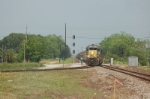 CSX Transportation Mixed Freight Train, with EMD SD40-2 No. 8146 in the lead,